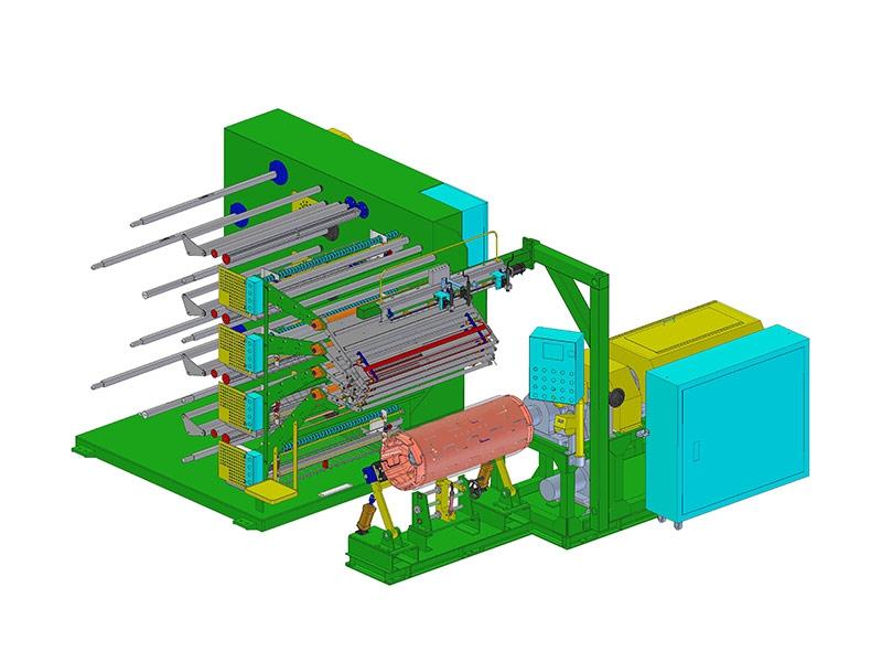襯帶製層機 + 4層供料架